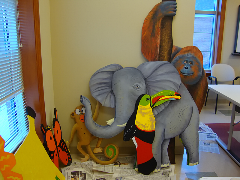 Therapeutic sensory trail - Rain Forest Cafe takes shape