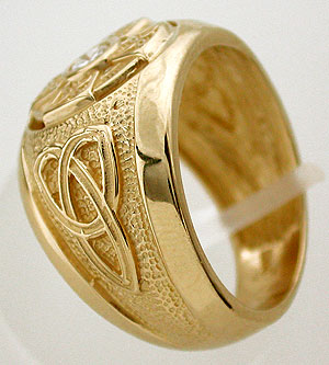 celtic cross ring side view