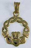 Claddagh with twisted knot border