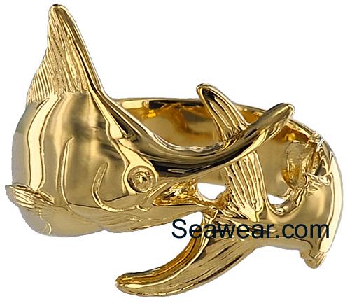 Marlin Wrap Wedding Ring