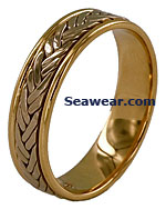 double riggers weave wedding ring