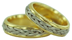 18kt gold and platinum wedding bands