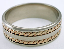 woven wedding ring
