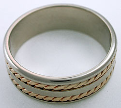 yellow white gold band