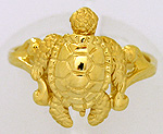 small 14kt Stephen Douglas sea turtle ring