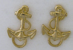 14kt stud post fouled anchor earrings