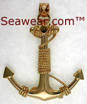 huge 3D gold anchor