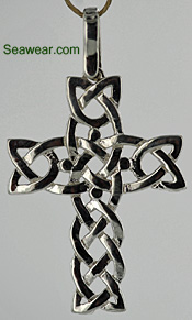 large silver Celtic Cross necklace jewelry
