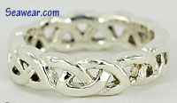 Argentium Silver Celtic love knot ring