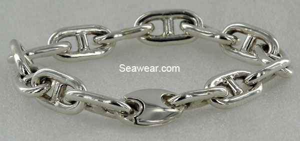 large anchor link chain bracelet sterling silver