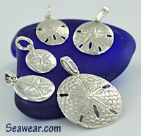 sand dollars and sea glass