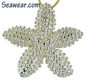 argentium silver 935 starfish necklace pendant sterling silver