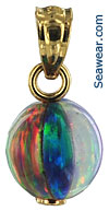 smallest opal beach ball pendant
