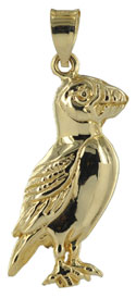 14kt gold Maine puffin bird