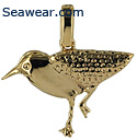 14k gold sandpiper necklace jewelry pendant