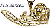 small 14kt airboat pendant