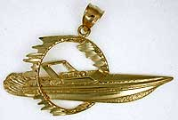 off shore race boat jewlry pendant