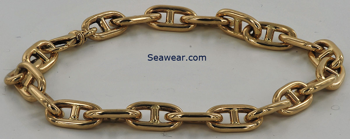 mens gold nautical bracelets