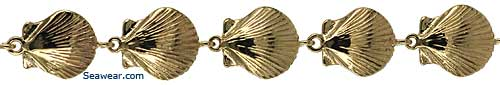 gold scallop shell bracelet