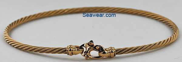 4mm cable necklace in 14kt gold