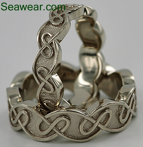 Celtic eternal knot wedding ring
