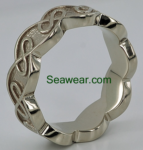 8mm Celtic eternal knot wedding ring