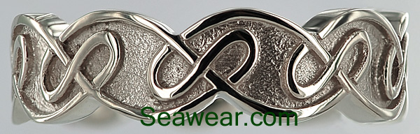 8mm Celtic eternal knot wedding band