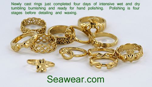 newly cast trinity knot wedding bands