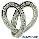 white gold Celtic heart with .90cts total weight of diamonds