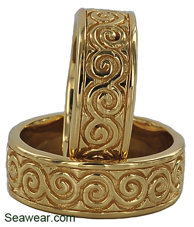 newgrange spiral wedding rings