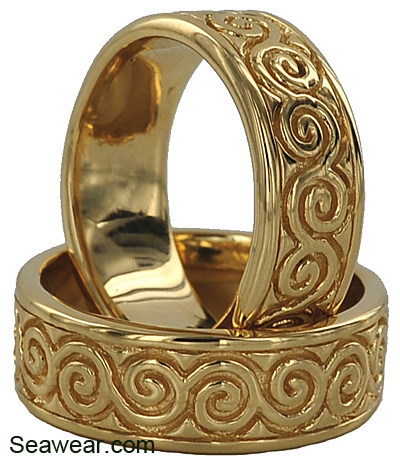 new grange spiral wedding bands