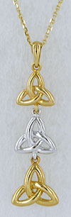 triple trinity knot necklace
