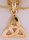 14k trinity knot necklace