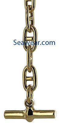 14k gold Hermes anchor chain tribute