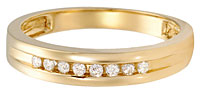 gents gold and diamond band