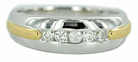 mens white gold diamond wedding band