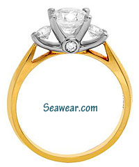 Scott Kay platinum and 18kt gold VS diamond engagement ring