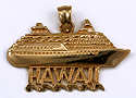 14kt Hawaii cruise ship pendant
