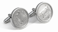 Irish coin cuff links