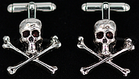 skull and crossbones pirate cufflinks