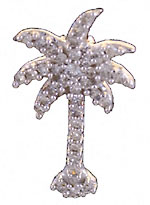 14kt white gold plam tree covered in diamonds!