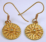 14kt gold French wire earrings