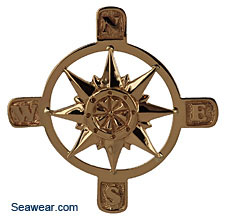 14kt gold compass rose
