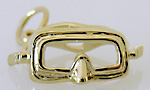 14kt gold polished dive mask charm