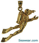 3D diver with outstretched arms