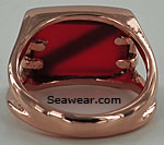 rose gold ladies scuba diver ring