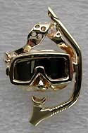 white and yellow gold mask & snorkle