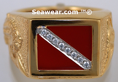 diamond scuba diver ring