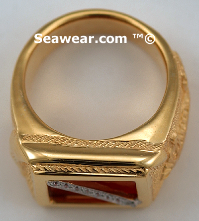 thickness of gold scuba diver flag ring