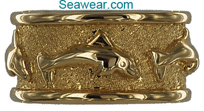 three dolphin wedding band DR022 79500